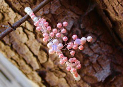"""Čelenka """"Růžové perly"""""""